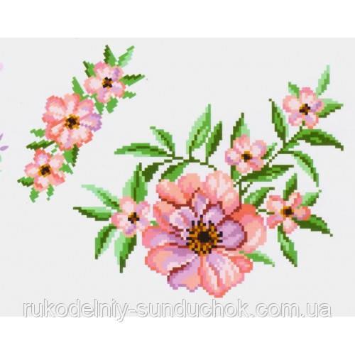 """Водорастворимый флизелин с рисунком """"Confetti"""" (K 298 Чайная роза)"""