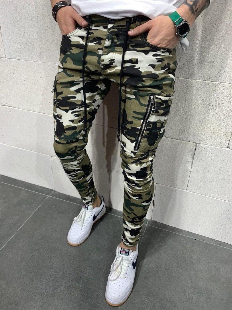 Мужские джинсы камуфляжные камо А -5007