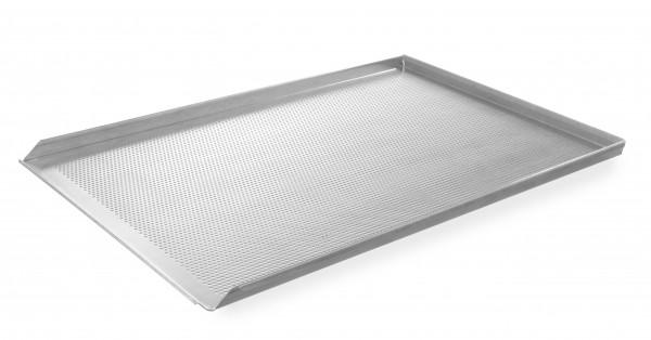 Противень алюминиевый перфорированный  600x400 с трехсторонней обортовкой HENDI