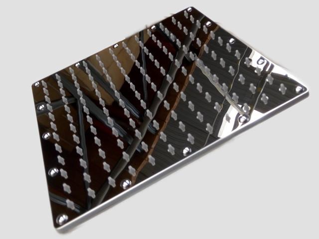 Лейка верхнего душа 250 мм квадратная поворотная нержавеющая сталь Aqua-World