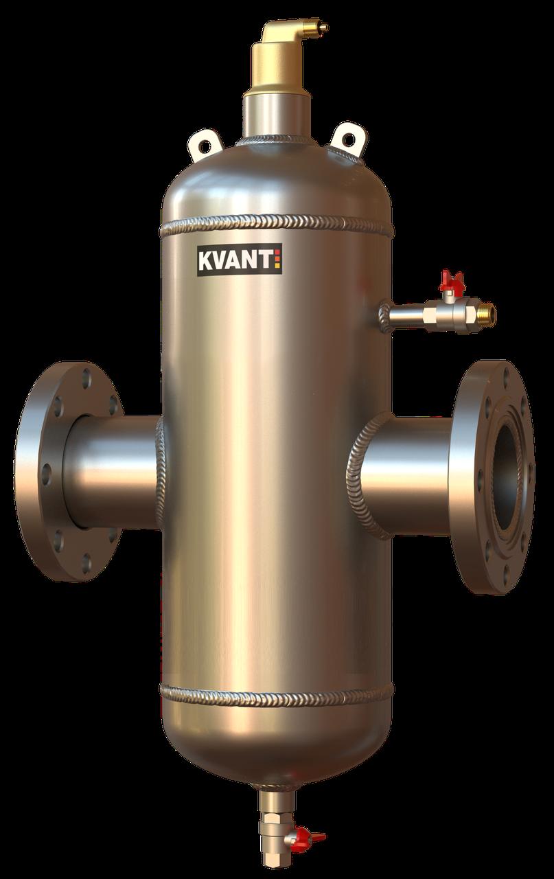 Сепаратор воздуха и шлама RF.SS-150 нержавеющая сталь KVANT AirDirt