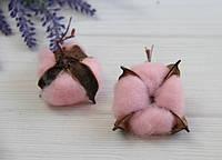 Хлопок стабилизированный ГОЛОВКА   ,розовый        20 шт, фото 1