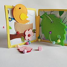 Книжечка-игрушка для детей развивающая ручной работы 8