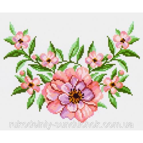 """Водорастворимый флизелин с рисунком """"Confetti"""" (K 299 Чайная роза)"""