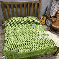 Покрывало Норка | Махровый плед |  | Норка. Koloco (колоко) Размер 220х225см. Цвет -Зеленый