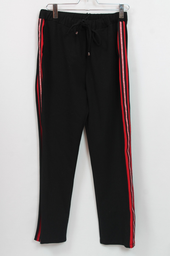 Турецкие женские брюки в спортивном стиле с лампасами, размеры 52-64