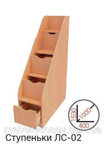 Ступеньки комод для кровати ЛС-02  (Макси мебель) 400х1000х1530мм