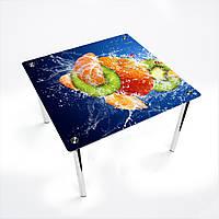Стол обеденный на хромированных ножках КвадратныйSweet Mix