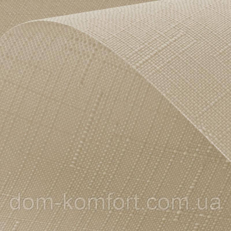 Рулонные шторы ткань Лён - Практичные тканевые ролеты с хорошей ткани Айвори