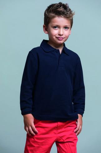 Детская футболка-поло с длинным рукавом JHK KID POLO LS