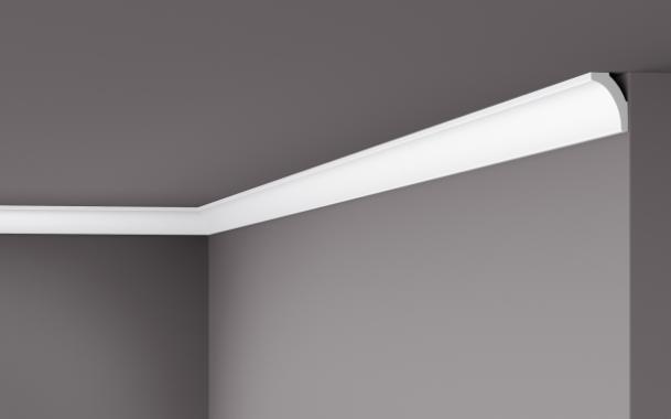 Карниз потолочный гладкий NMC WT 8 Wallstyle, лепной декор из полимера
