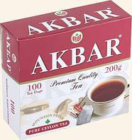 Чай  Akbar Black Tea 100 пакетов