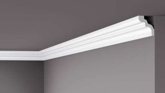 Карниз потолочный гладкий NMC WT 9 Wallstyle, лепной декор из полимера