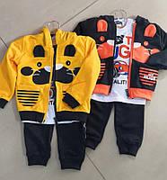 Спортивный костюм 3 в 1 для мальчика оптом, 6-36 мес.,  № ZOL-13001