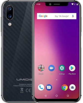 """Смартфон UMIDIGI One 4/32Gb Black, 12+5/16Мп, 5,9"""" IPS, 2SIM, 4G (LTE), 3550mAh, Helio P23"""