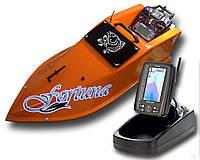 Кораблик для завоза прикормки Фортуна с эхолотом Toslon TF-500 Оранжевый