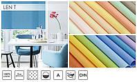 Рулонные шторы ткань Лён - Практичные тканевые ролеты с хорошей ткани цвет серый