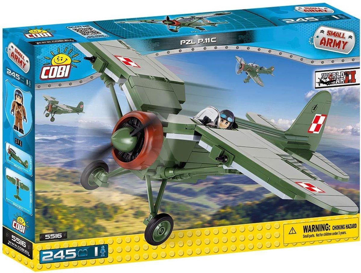 Конструктор Cobi Вторая Мировая Война Самолет Pzl P.11C (COBI-5516) (5902251055165)