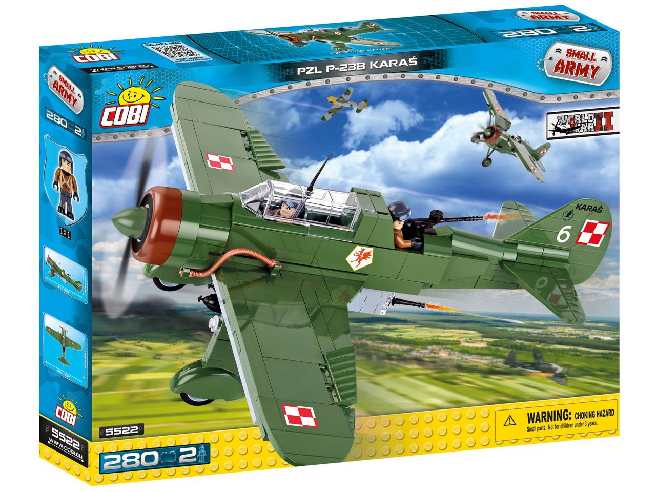 Конструктор COBI Вторая Мировая Война Самолет PZL Карась P-23B 280 деталей (COBI-5522) (5902251055)