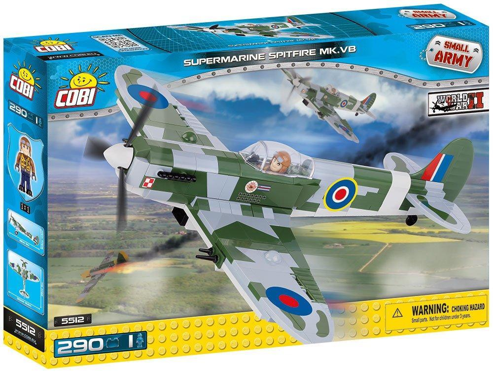 Конструктор  Cobi Вторая Мировая Война Самолет Спитфайр 290 деталей (COBI-5512) (5902251055127)