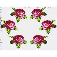 """Водорастворимый флизелин с рисунком """"Confetti"""" (K 303 Букет роз)"""