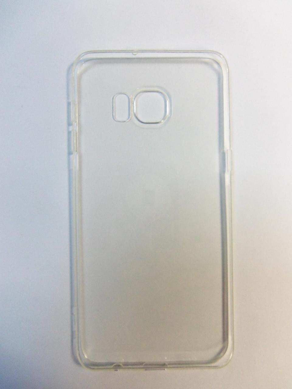 Чехол силиконовый супер тонкий Superslim Qu case Samsung G925 Galaxy S6 Edge plus  S6 Edge+ прозрачный