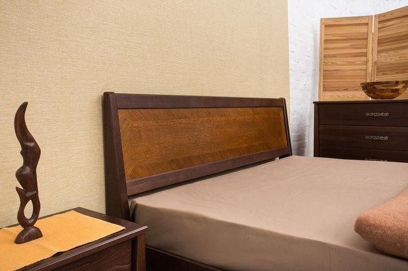 Ліжко Сіті 1,4 м бук з підйомною рамою інтарсія
