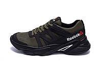Мужские кожаные кроссовки Reebok Classic Green (реплика)