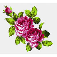 """Водорастворимый флизелин с рисунком """"Confetti"""" (K 304 Букет роз)"""