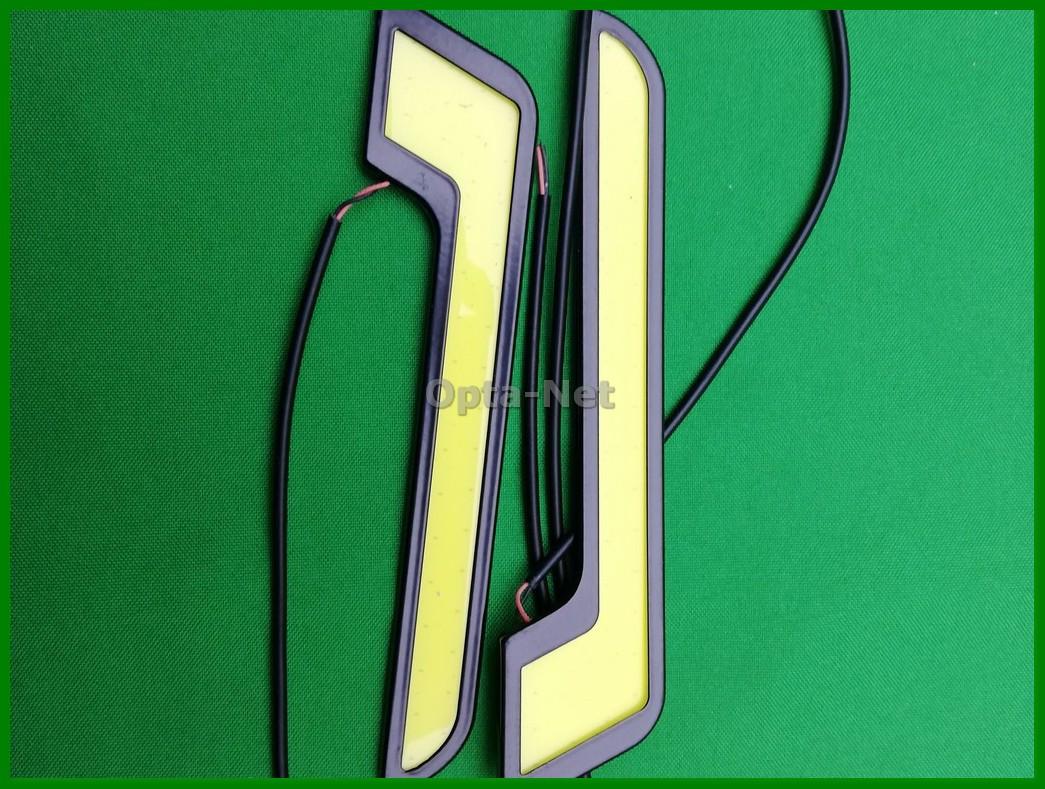 Гибкие силиконовые дневные ходовые огни DRL  19