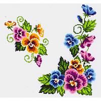 """Водорастворимый флизелин с рисунком """"Confetti"""" (K 305 Букет фиалок)"""