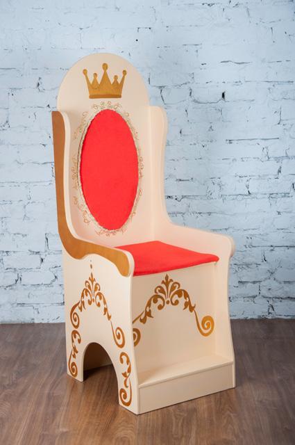 Кресло детское с ящиком для игрушек Трон большой (357)