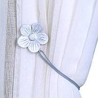 Магниты подхваты для штор и тюли Цветок Светло-Серый
