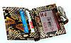 """Женский кошелек Butun 593-038-016 кожаный коричневый """"под рептилию"""", фото 5"""