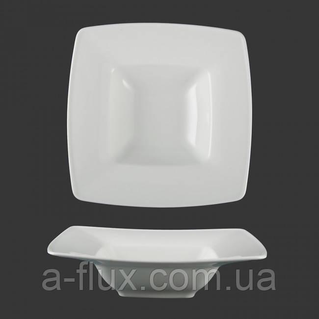 Тарелка квадратная  глубокая для пасты Victoria Lubiana 270 мм 2827