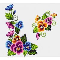 """Водорастворимый флизелин с рисунком """"Confetti"""" (K 306 Букет фиалок)"""