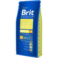 Корм для щенков и молодых собак средних пород BRIT Premium «Junior M» 15 кг