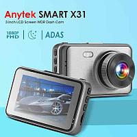 """Автомобильный видеорегистратор Anytek X31 1080P FHD 3,0 """" / Двойной объектив / G-сенсор / регистратор Анитек"""