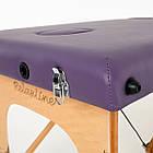 Массажный стол деревянный 3-х сегментный RelaxLine Barbados кушетка массажная для массажа, фото 7