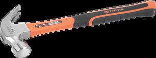 Молоток-гвоздодер с ручкой из фибергласса