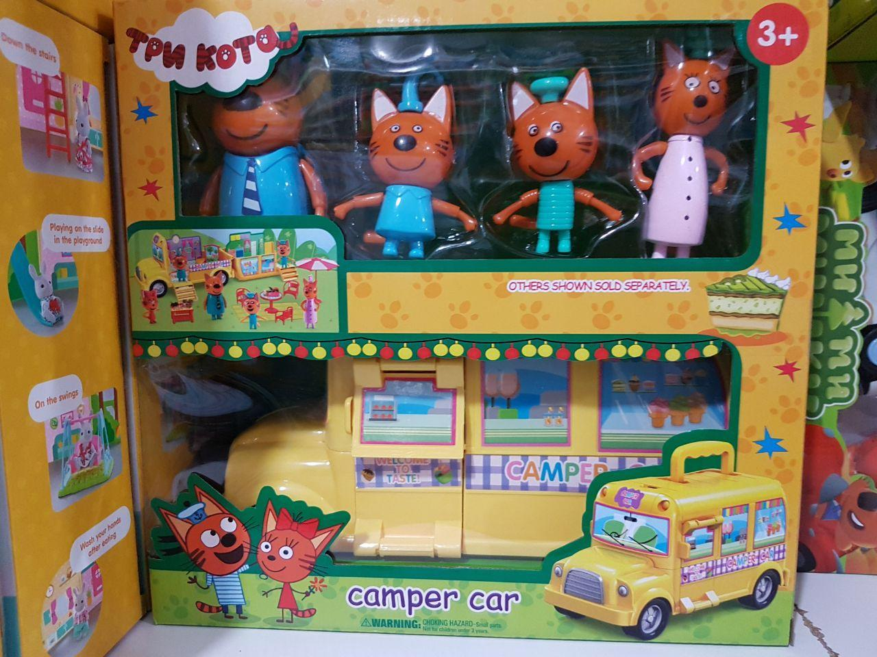 Игровой набор «Три кота» Кемпер Camper car Трейлер M-8805