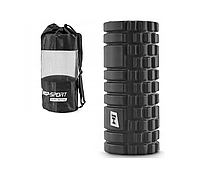 Валик ролик для йоги HOP SPORT 33*14 см, Черный