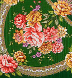 Пелагея 1544-9, павлопосадский платок шерстяной (с просновками) с шелковой бахромой, фото 2