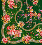 Пелагея 1544-9, павлопосадский платок шерстяной (с просновками) с шелковой бахромой, фото 3
