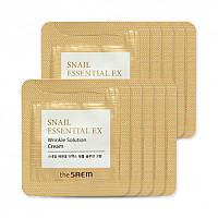 ПРОБНИК Крем для лица The Saem Snail Essential Ex Wrinkle Solution cream