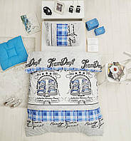 Подростковое постельное белье из ранфорс ТМ Altinbasak Molly mavi