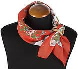 Неженка 1426-5, павлопосадский платок (на голову, шейный) хлопковый (батистовый) с подрубкой, фото 2