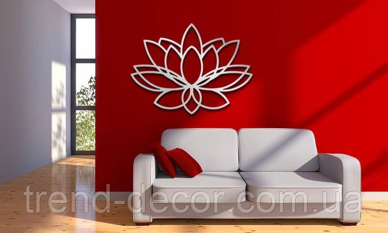 Декоративное металлическое панно Цветок Лотоса 2