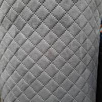 Алькантара на поролоне ткань для обшивки автомобиля пошив чехлов обшивка карт дверных сублимация 550 серый