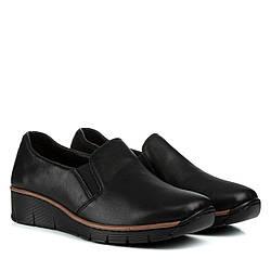 Туфли женские MEEGOCOMFORT (кожаные, черного цвета, комфортные)